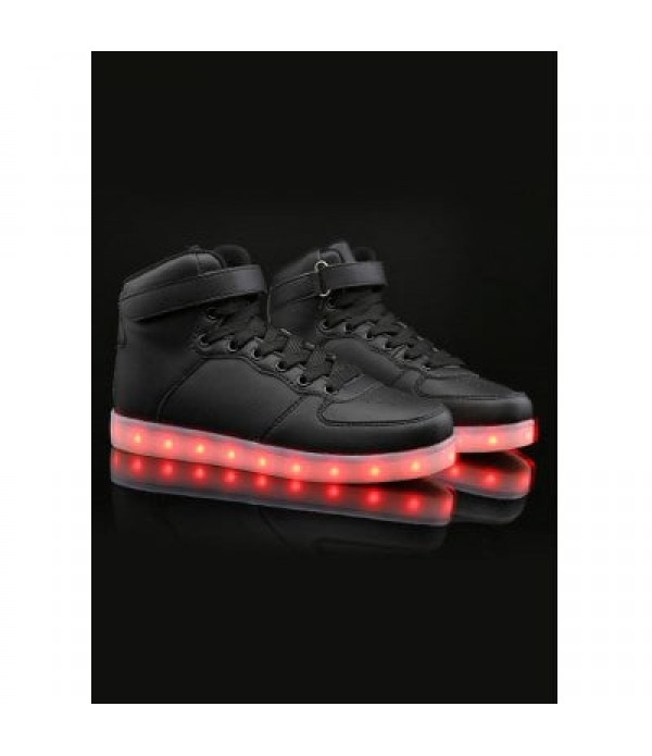 Led Luminous Lights Up Tie Up Casual Sho...