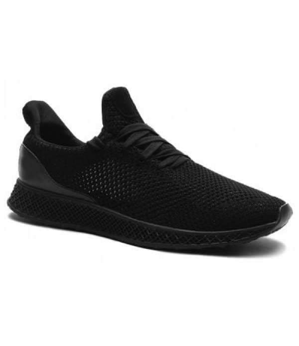 Mesh Breathable Lace Up Athletic Shoes