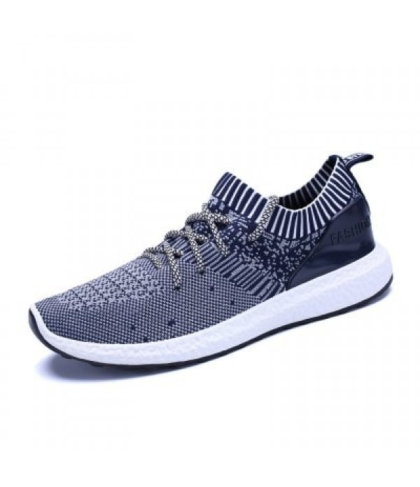 New Men's Flying Woven Breathable Running Shoes