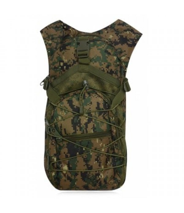 Camouflage Print Mesh Splicing Backpack