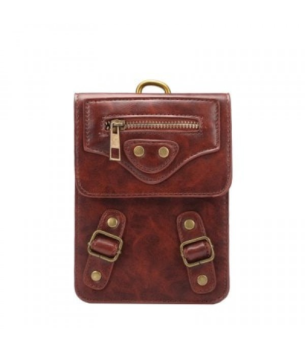 727 6.3 inches PU Leather Waist Wallet w...