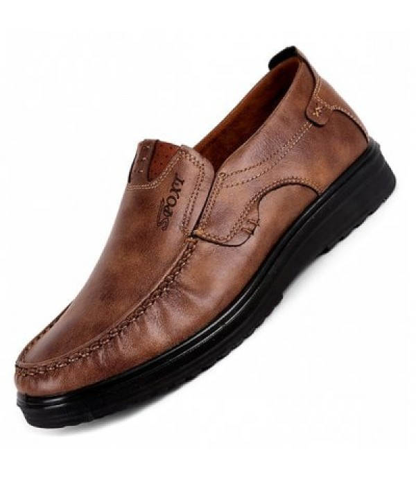 Men Business Breathable Driving Flat Oxf...