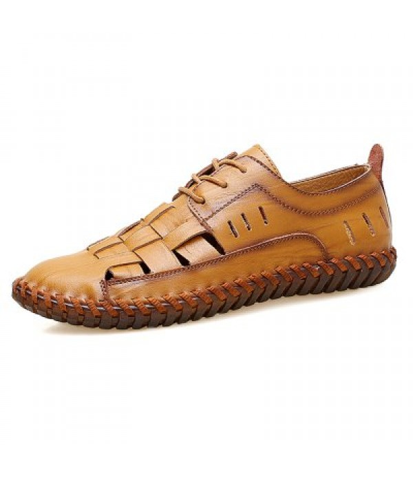 Men Trendy Outdoor Breathable Casual Laced Shoes