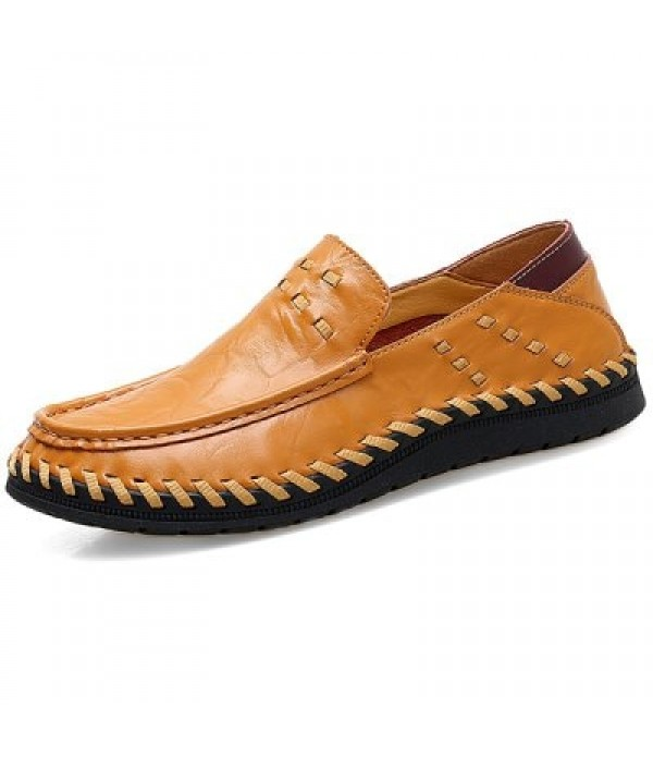 Men Stylish Soft Handcrafted Anti-slip Leather Casual Shoes