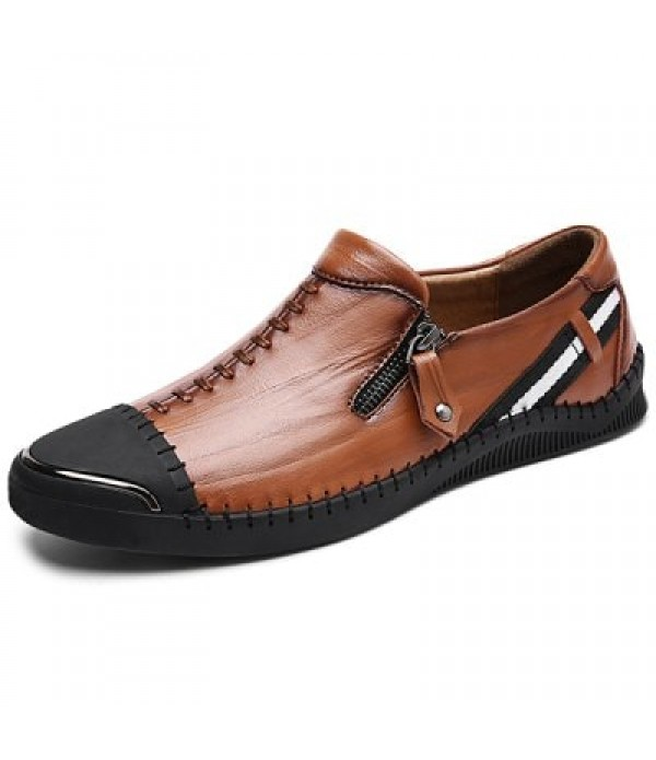 Leisure Soft Anti-slip Leather Loafer Sh...