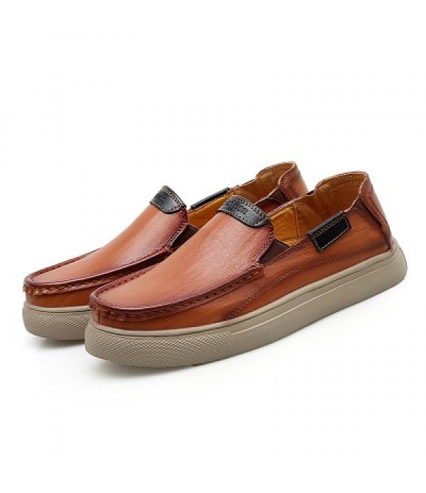 Men Classic Breathable Slip-on Leather S...