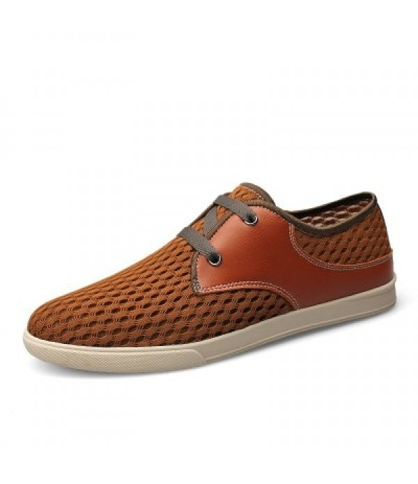 Male Breathable Mesh Lace-up Casual Shoe...
