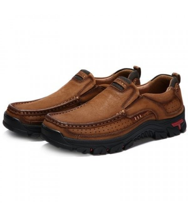 Outdoor Anti-slip Wear-resistant Casual Leather Shoes